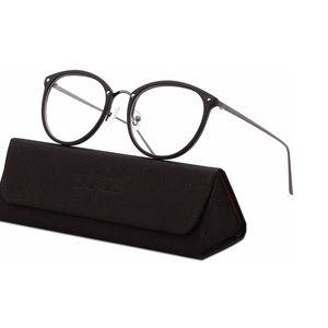 Matte black eyeglass frame